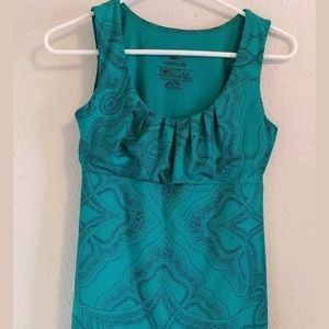 Patagonia Teal Paisley Womens Athletic Tank Size S